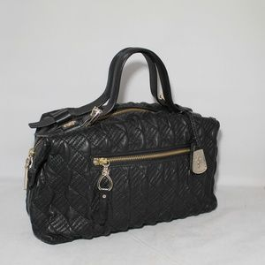 Cole Haan Heritage Quilted Archer Satchel Black